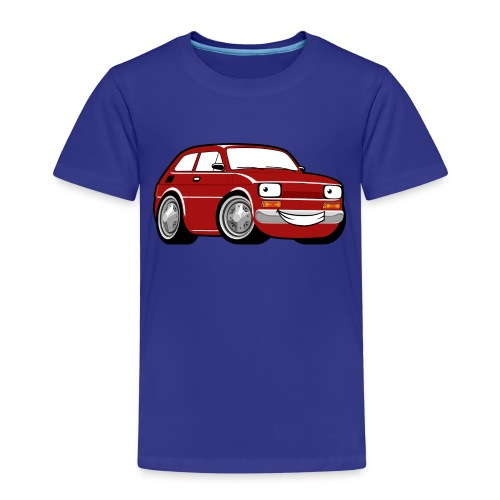 Red cartoon racing car toddler classic - Koszulka dziecięca Premium
