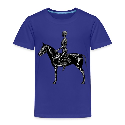 Reiter-Skelett - Kids' Premium T-Shirt