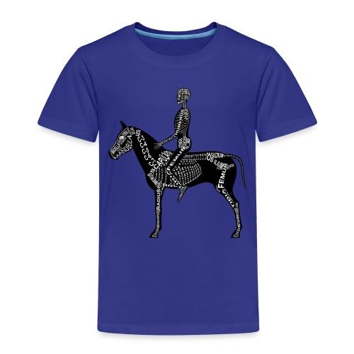 Reiter-Skelett - Premium T-skjorte for barn