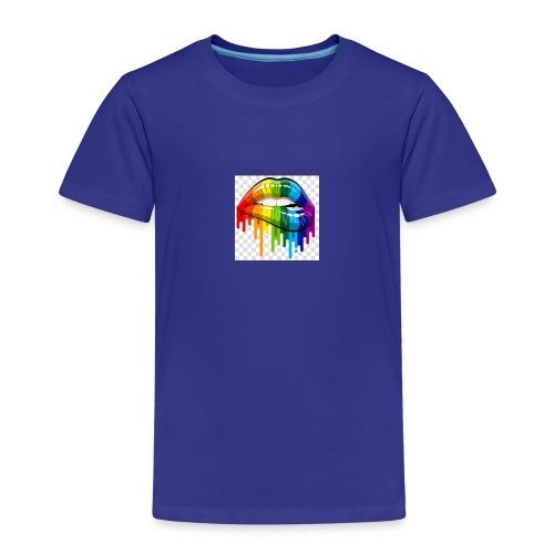 gay pride lgbt pride parade rainbow flag lip bite - Kids' Premium T-Shirt