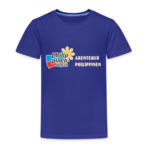 Philippinen-Blog Logo deutsch orange/weiss - Kinder Premium T-Shirt