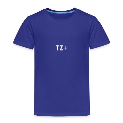 TZ+ white logo - Kids' Premium T-Shirt