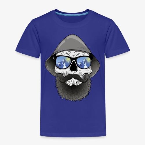 Totenkopf mit sonnenbrille und hut - Kinder Premium T-Shirt