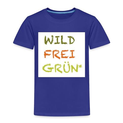 Logo WILD FREI GRÜN jpg - Kinder Premium T-Shirt