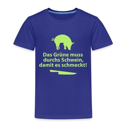 Gemüse Grill Schwein Fleisch Vegetarier Steak - Kids' Premium T-Shirt