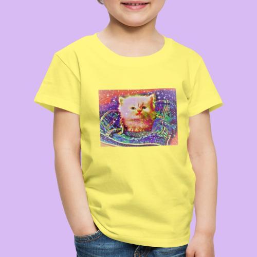 Gattino scintillante nella tasca dei jeans - Maglietta Premium per bambini
