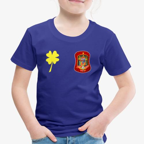 Escudo de España y trébol de la suerte - Camiseta premium niño