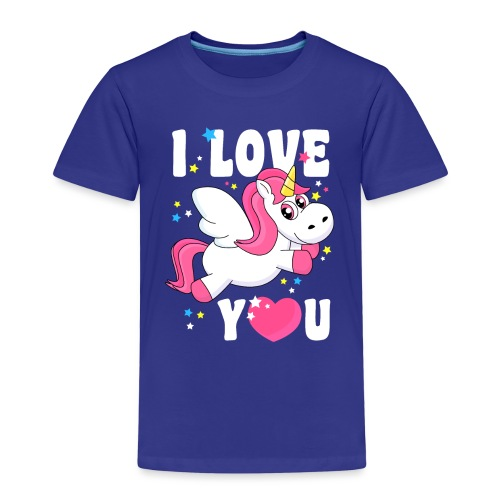 I love You Einhorn - Kinder Premium T-Shirt