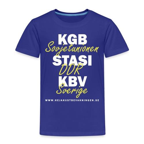 KGB STASI KBV - Premium-T-shirt barn