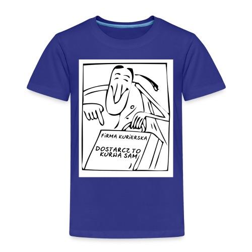 firma kurierska przod - Koszulka dziecięca Premium