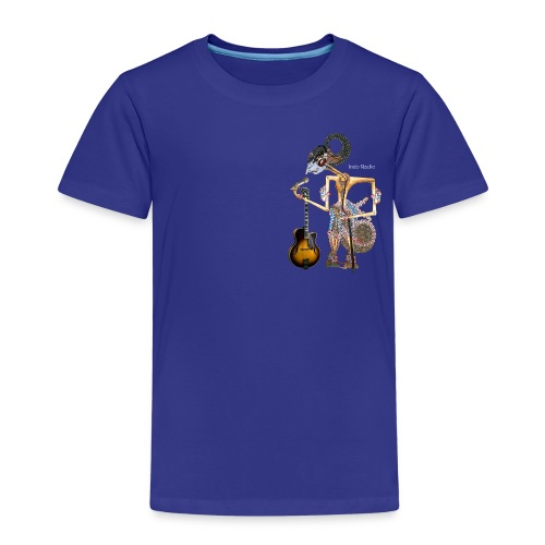 wayangtest witte letters png - Kinderen Premium T-shirt