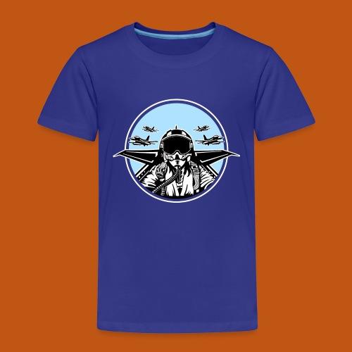 Jet Pilot / Kampfpilot 01_schwarz weiß - Kinder Premium T-Shirt