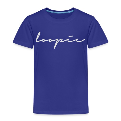 Loopie_logo_WHITE - Kids' Premium T-Shirt