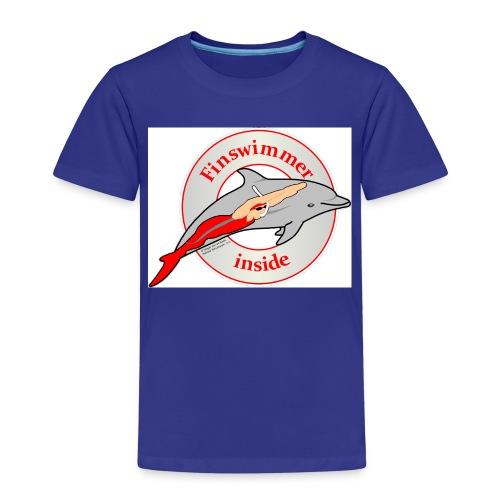Logo für alle Freunde des Finswimming - Kinder Premium T-Shirt