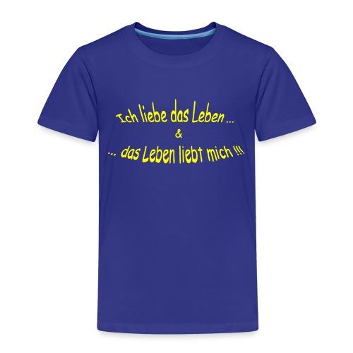 Ich-liebe-das-Leben-gelb - Kinder Premium T-Shirt
