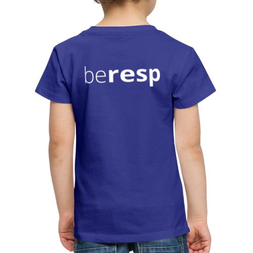 BeResp Classic Line 2 White - T-shirt Premium Enfant