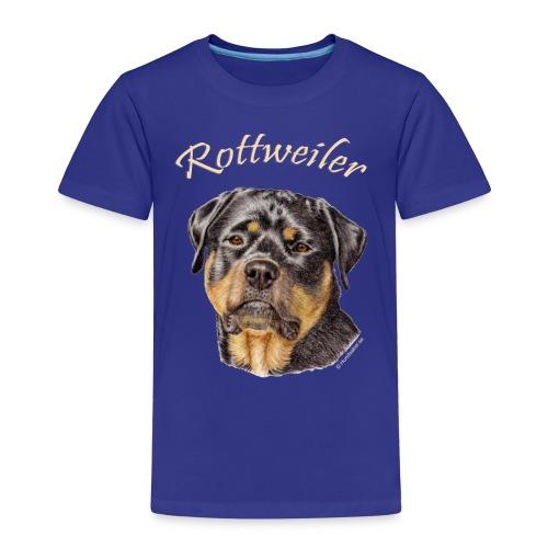 Rottweiler med rasnamn - Premium-T-shirt barn