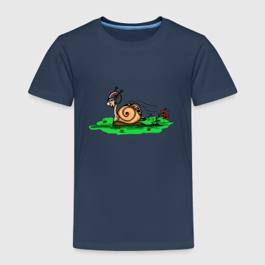 ślimak wyścig - Koszulka dziecięca Premium