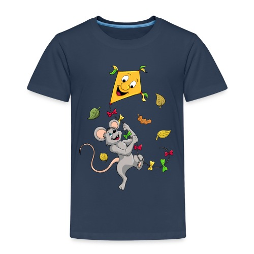 Maus mit Drachen im Herbst - Kinder Premium T-Shirt