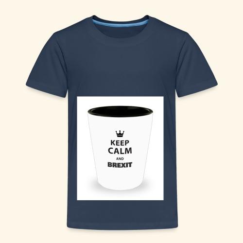 Shot Glass with inscriptions Keep Calm & Brexit - Kids' Premium T-Shirt