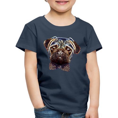 Pug with bow tie - Kids' Premium T-Shirt