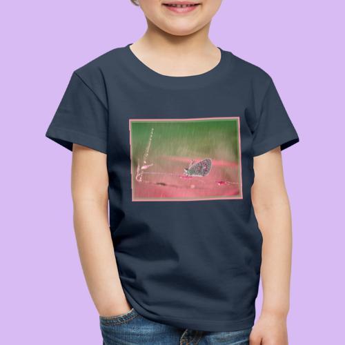 Farfalla nella pioggia leggera - Maglietta Premium per bambini