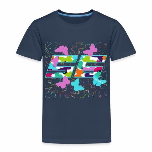 Dorsal mariposas de colores - Camiseta premium niño