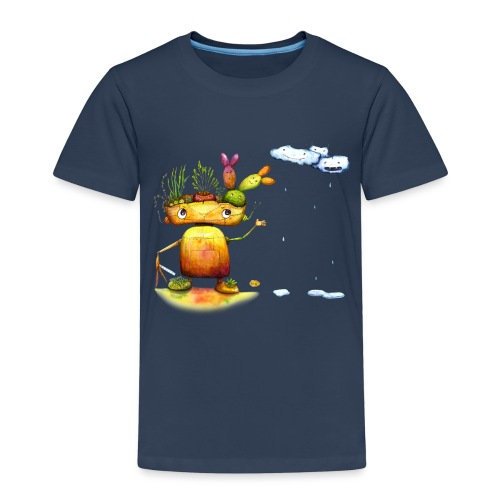 Robot with his plant friends - Kinderen Premium T-shirt
