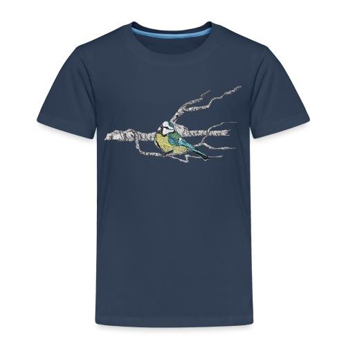 Blaumeise auf Ast - Kinder Premium T-Shirt