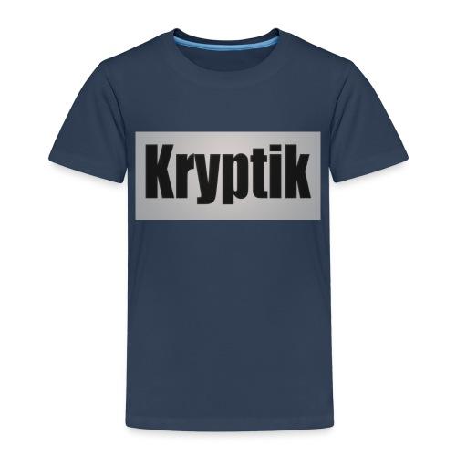 Kryptik Logo Gross - Kinder Premium T-Shirt