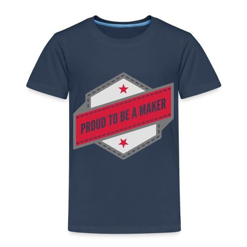 logo Vintage Proud to be a Maker - T-shirt Premium Enfant