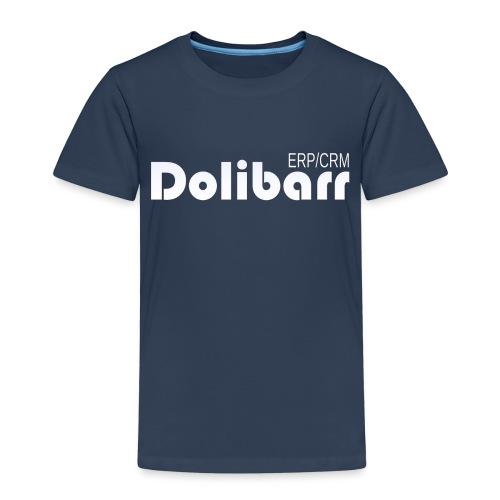 Dolibarr logo blanco - Camiseta premium niño