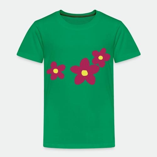 Three Flowers - Kids' Premium T-Shirt