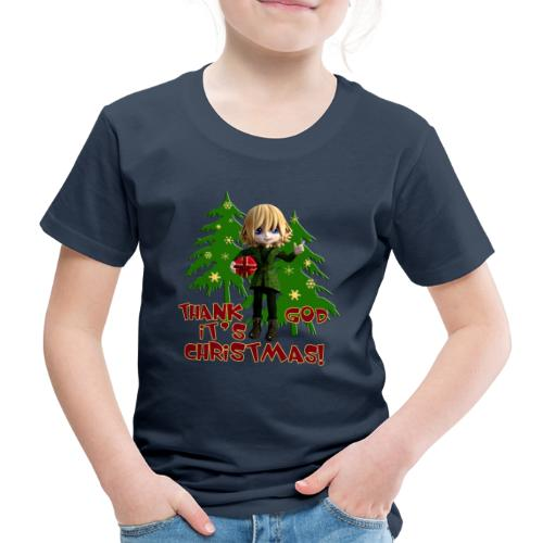 Weihnachtself Thank God it´s Christmas! - Kinder Premium T-Shirt