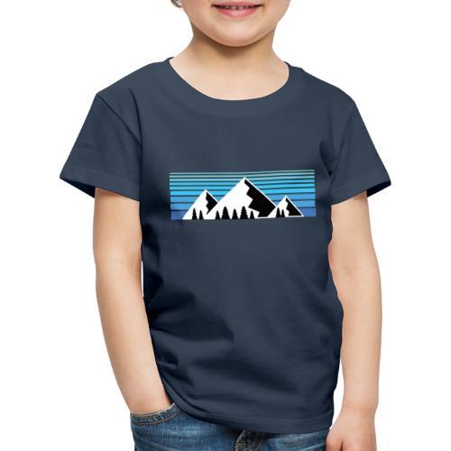 Berge im Sonnenaufgang Bergshirt & Natur Design - Kinder Premium T-Shirt