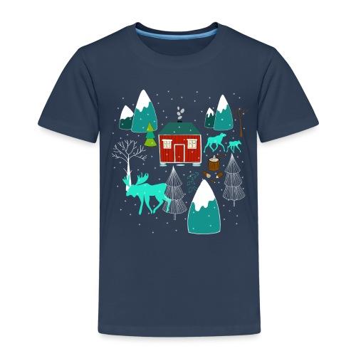 Weihnachten Elch I Geschenk Winterstimmung - Kinder Premium T-Shirt