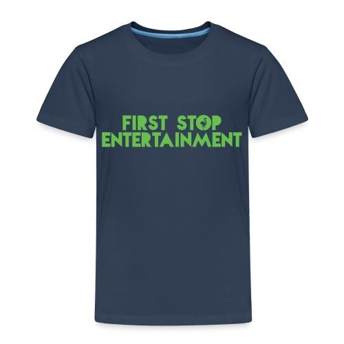 Text Logo png - Premium T-skjorte for barn