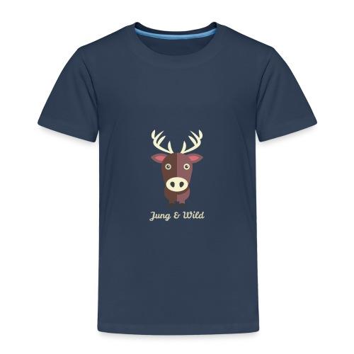 jung wild deer png - Kinder Premium T-Shirt