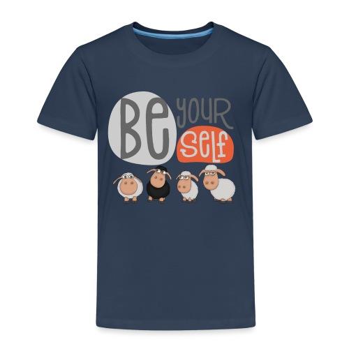 be yourself Schafe: Be different schaf Herde - Kinder Premium T-Shirt