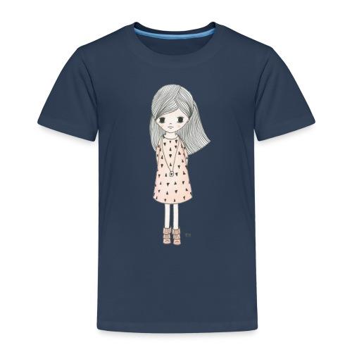 meisje met roze jurk - Kinderen Premium T-shirt