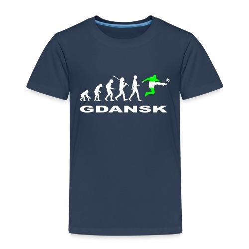 Ewolucja piłka nożna Gdansk wh - Koszulka dziecięca Premium