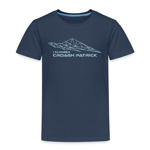 I climbed Croagh Patrick Geometric Design - Kids' Premium T-Shirt