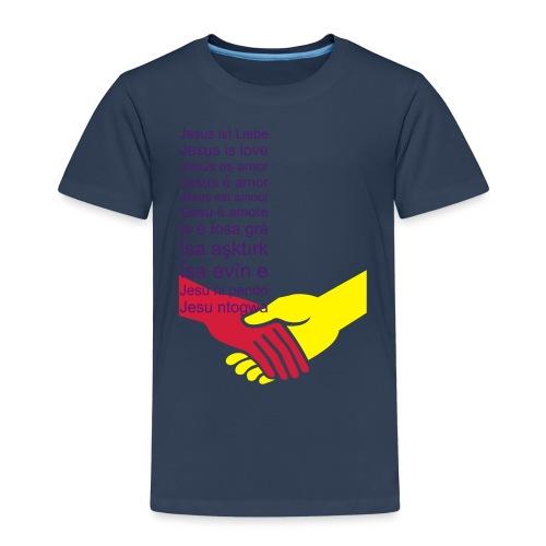 Jesus ist Liebe (1/2) - Kinder Premium T-Shirt