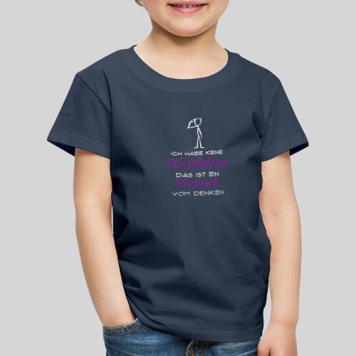 ich habe keine Stirnfalten das ist ein Sixpack - Kinder Premium T-Shirt
