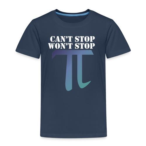 Pi Day Cant Stop Wont Stop Shirt Dunkel - Kinder Premium T-Shirt