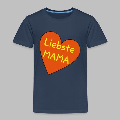 Liebste Mama - Auf Herz ♥ - Kinder Premium T-Shirt