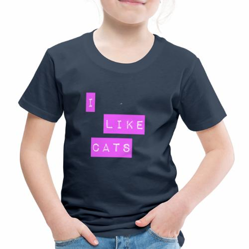 I like cats - Kids' Premium T-Shirt