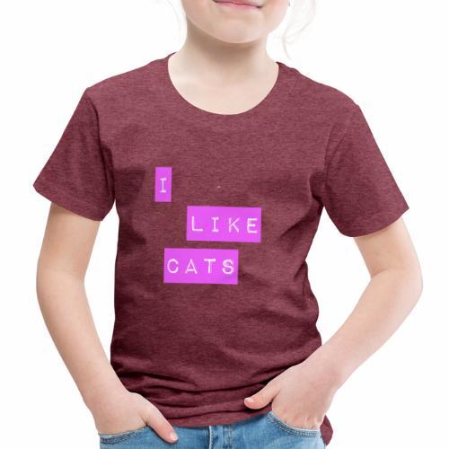 I like cats - Kids' Premium T-Shirt