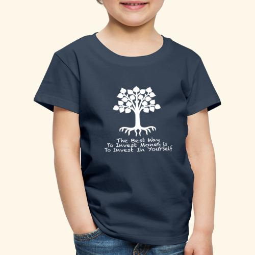 Printed T-Shirt Tree Best Way Invest Money - Maglietta Premium per bambini