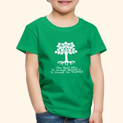 Printed T-Shirt Tree Best Way Invest Money - Maglietta Premium per bambini